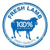 Lamb stamp — Stock Vector