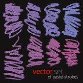 Pastell striche, vektor-set 2 — Stockvektor