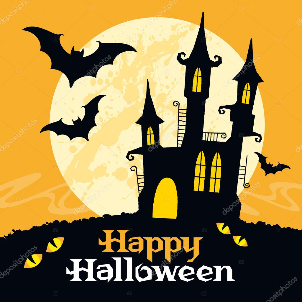 Halloween vector card. Vector art — Imagen vectorial #12880613