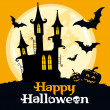 Halloween card, vector illustration — Imagen vectorial