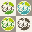 Eco labels - Stock Vector