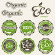 Set of eco labels - Vettoriali Stock