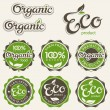 Set of eco labels - Imagen vectorial