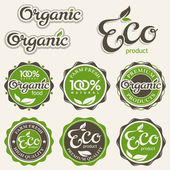 Set of eco labels — Stock Vector
