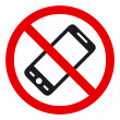No phone vector sign - Stock Vector