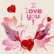 I love you vector card — Vector de stock #18334333