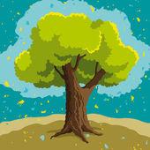 Vektor träd — Stockvektor