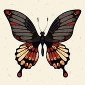 Farfalla vettoriale — Vettoriale Stock