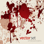 Blood stains — Stock Vector