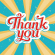 Stock Vector: Thank You