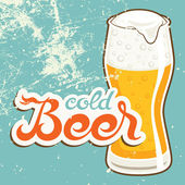 Cold Beer — Stock Vector