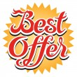 Best Offer Sticker — Stock Vector