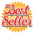 Best Seller Sticker — Stock Vector