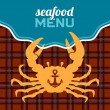 Seafood Menu — Stock Vector
