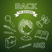 欢迎回到学校 — 图库矢量图片