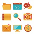 Flat icons vector set 3 — Stock Vector