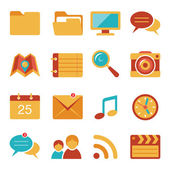 Flat icons vector set 4 — Stock Vector