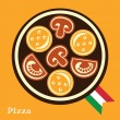 Italian Pizza — Stock Vector