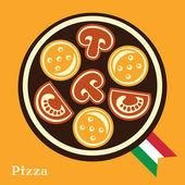 Italian Pizza — Stock Vector
