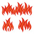 Stock Vector: Fire flames