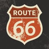 Segno di route 66 — Vettoriale Stock