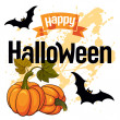 Happy Halloween vector card — Vector de stock