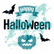 Halloween vector kaart — Stockvector  #31783653