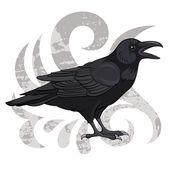 Raven — Stock Vector