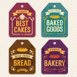 Stock Vector: Bakery Labels