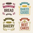 Stock Vector: Retro Bakery Labels
