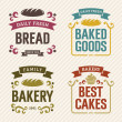 Retro Bakery Labels — Stock Vector #34263895