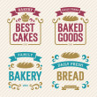 Stock Vector: Vintage Bakery Labels