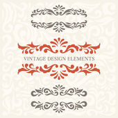 Design Elements set 6 — Stock Vector