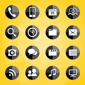 Mobile Applications icons — Stock Vector