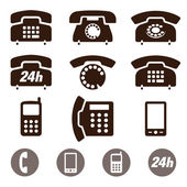 Phone Icons vector set — Stock Vector
