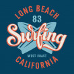 Surfing California — Stock Vector