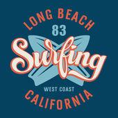 Surf in california — Vettoriale Stock