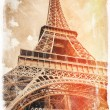 Stock Photo: Paris vintage postcard