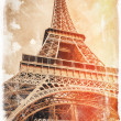 Paris vintage postcard - Stock Photo