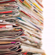 Magazines stack close-up shot — Stock Photo