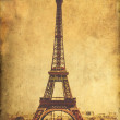 Vintage Paris postcard - Eiffel Tower — Stock Photo