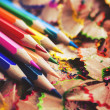 Multi-colored pencils — Stockfoto