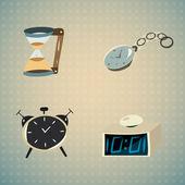 Klok- en wekkertijden — Stockvector