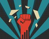 Power fist — Stock Vector