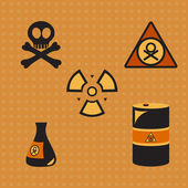 Biohazard silhouette — Stock Vector