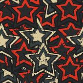 Grunge stars seamless — Stock Vector