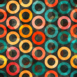 Royalty-Free Stock Imagen vectorial: Abstract color rings seamless