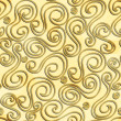 Abstract gold color curves seamless pattern — Stock Vector