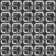 Black and white chains seamless pattern - Stock Vector