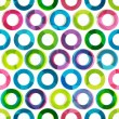 Stock Vector: Colored circles seamless pattern